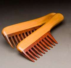 Wooden Combs with Handle