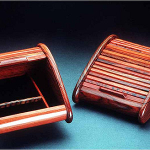 Cocobolo Rosewood Rolltop Jewelry Box, Medium