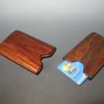 rosewood cocobolo credit card holder