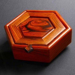 Cocobolo Rosewood Hexagonal Jewelry Box
