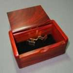 Mini cocobolo rosewood pegged box