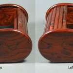 Cocobolo Rosewood Rolltop Jewelry Box - Bookmatch