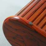 Cocobolo Rosewood Rolltop Jewelry Box - Underneath