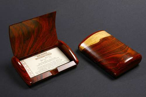 Cocobolo Rosewood Business Card Box